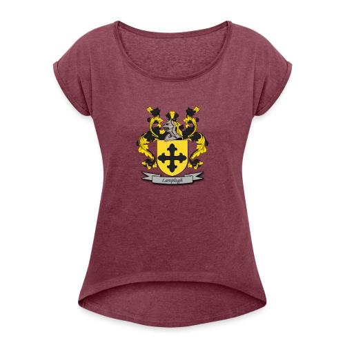 Lamplugh Family Crest - Women's Roll Cuff T-Shirt