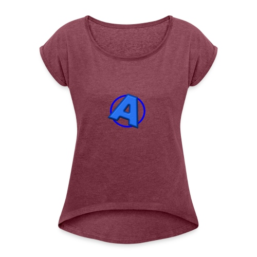 Awesomegamer Logo - Women's Roll Cuff T-Shirt