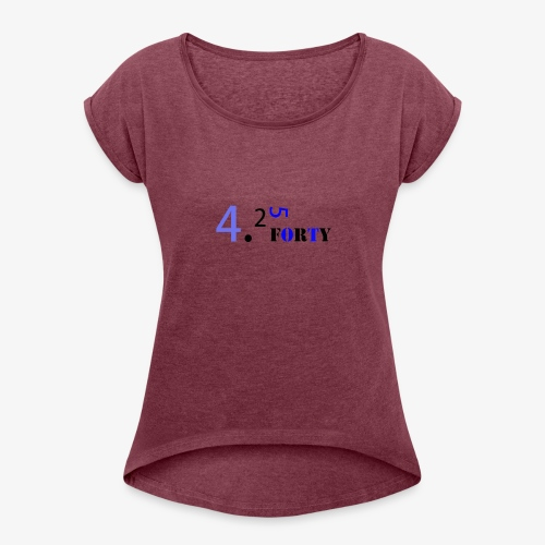 Logo 2 - Women's Roll Cuff T-Shirt