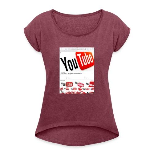 Brady Allaby Vlogs - Women's Roll Cuff T-Shirt