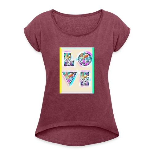 Nylee Daniels - Women's Roll Cuff T-Shirt