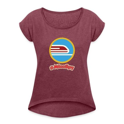 Monorail Explorer Badge - Women's Roll Cuff T-Shirt