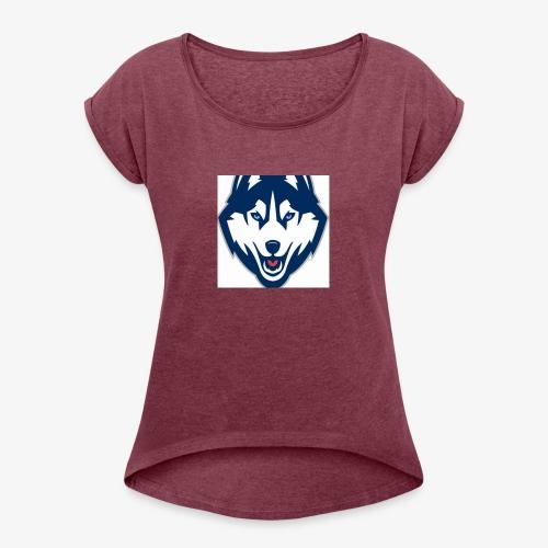 DamagedDaeee - Women's Roll Cuff T-Shirt
