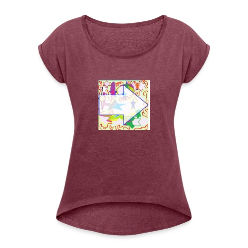 shapes - Women's Roll Cuff T-Shirt