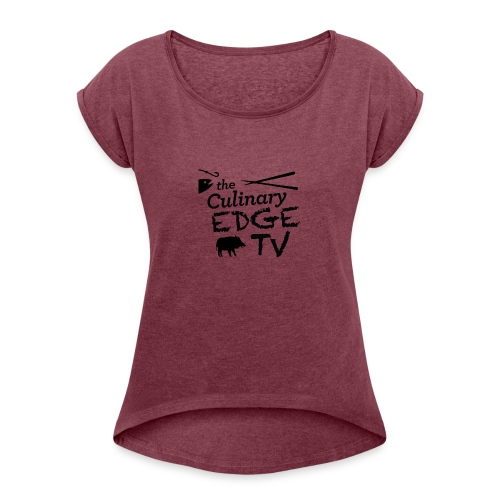 CETV Black Signature - Women's Roll Cuff T-Shirt