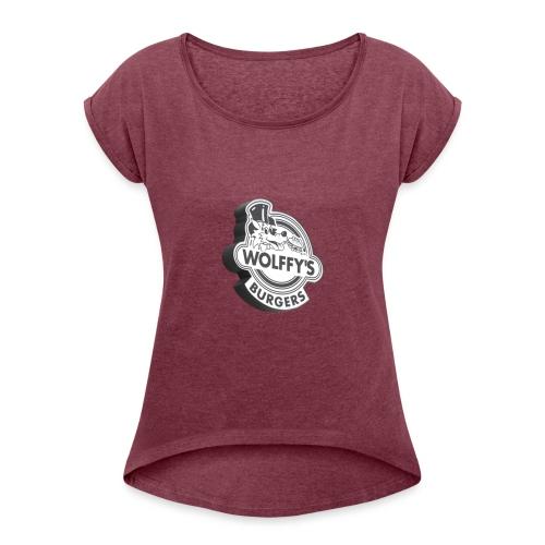 Wolffy's Hamburgers - Women's Roll Cuff T-Shirt