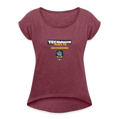 techninjoe Logo T-Shirt - Women's Roll Cuff T-Shirt