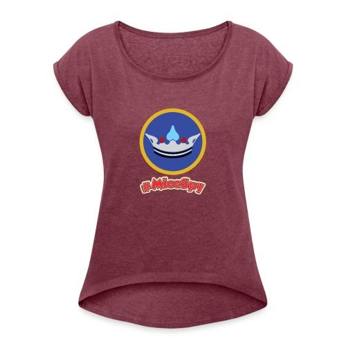 Fantasy Faire Explorer Badge - Women's Roll Cuff T-Shirt