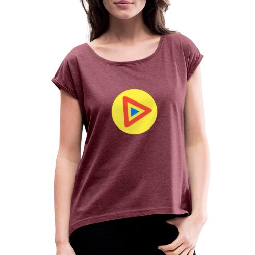 Most Played Play Logo - Women's Roll Cuff T-Shirt