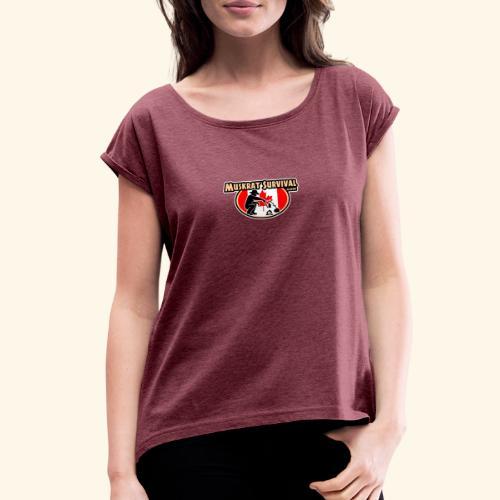 Muskrat Badge 2020 - Women's Roll Cuff T-Shirt