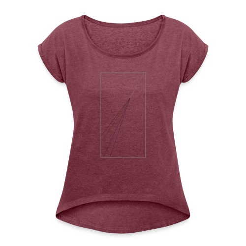 Light Subtlety - Women's Roll Cuff T-Shirt