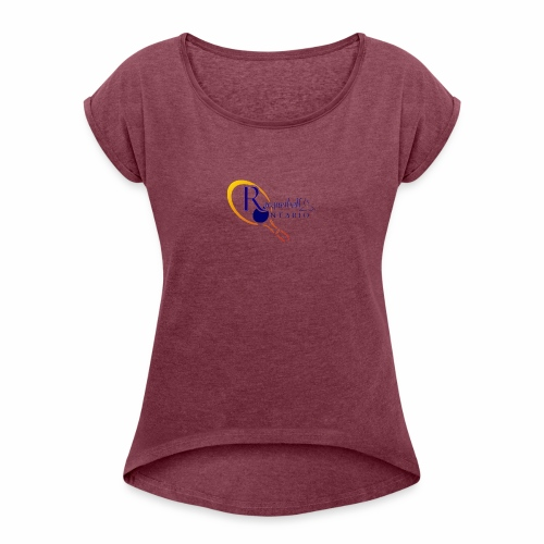Racquetball Ontario branded products - Women's Roll Cuff T-Shirt