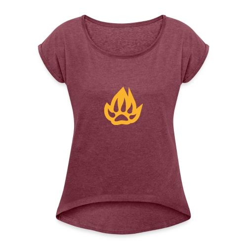 paw T-shirts - Women's Roll Cuff T-Shirt