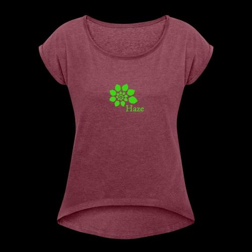 Haze Outdoors Logo - Women's Roll Cuff T-Shirt