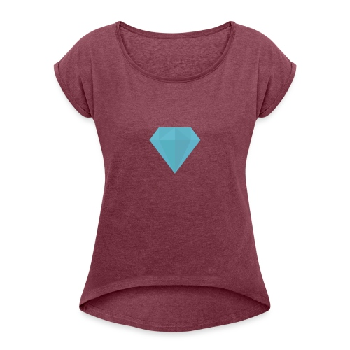long sleeve Diamond shirt - Women's Roll Cuff T-Shirt