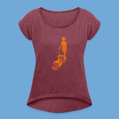 Roto-Hoe Orange - Women's Roll Cuff T-Shirt