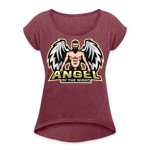 AngeloftheNight091 T-Shirt - Women's Roll Cuff T-Shirt