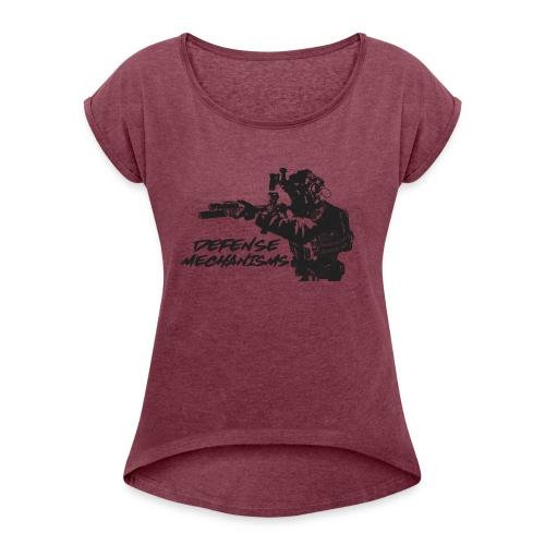Defense Mechanisms: On Target - Women's Roll Cuff T-Shirt