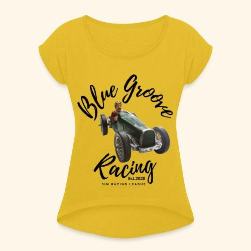 Blue Groove Racing Est 2020 - Women's Roll Cuff T-Shirt