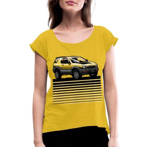 VX SUV Lines - Women's Roll Cuff T-Shirt