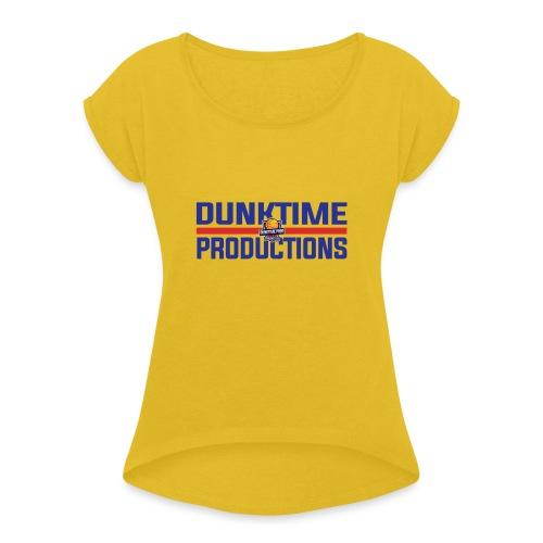 DUNKTIME Retro logo - Women's Roll Cuff T-Shirt