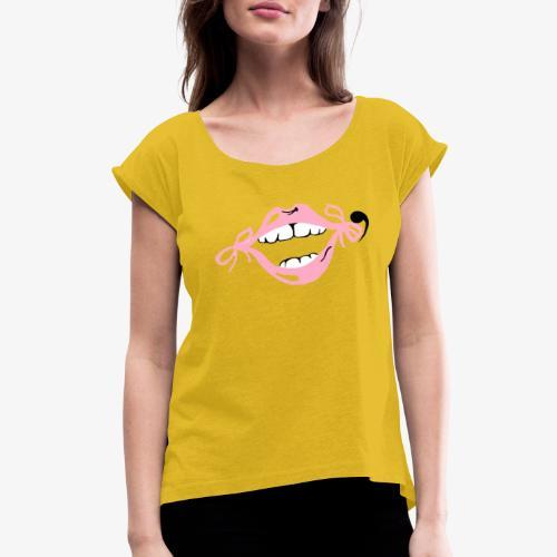 happy-go-lucky - Women's Roll Cuff T-Shirt