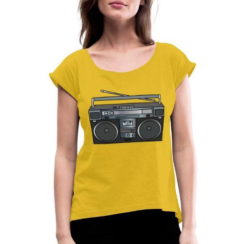 Boombox - Women's Roll Cuff T-Shirt