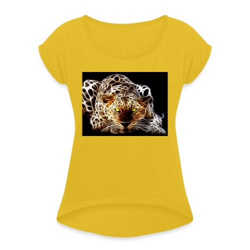 close for people and kids - Women's Roll Cuff T-Shirt