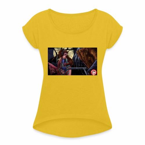 Anime Demon Hunter - Women's Roll Cuff T-Shirt