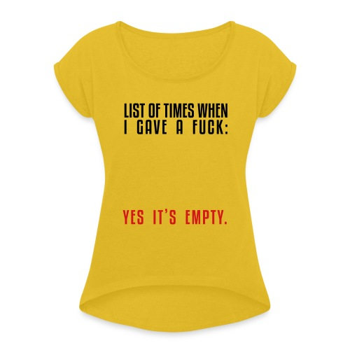 List - Women's Roll Cuff T-Shirt