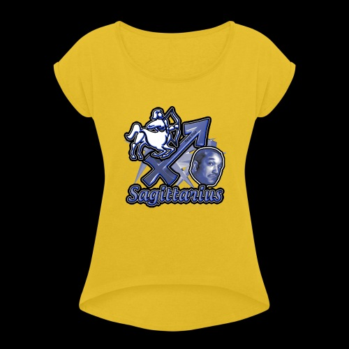 Sagittarius Redd Foxx - Women's Roll Cuff T-Shirt