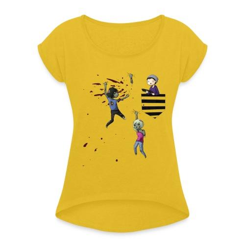 MRH Zombie Hunter - Women's Roll Cuff T-Shirt