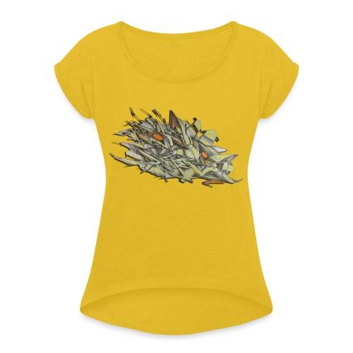 Pensil One - NYG Design - Women's Roll Cuff T-Shirt