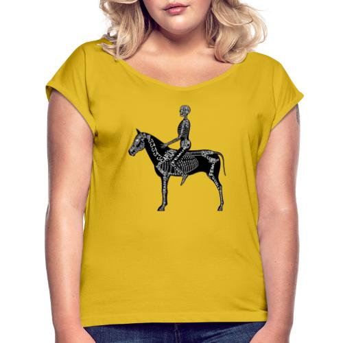 Skeleton Equestrian - Women's Roll Cuff T-Shirt