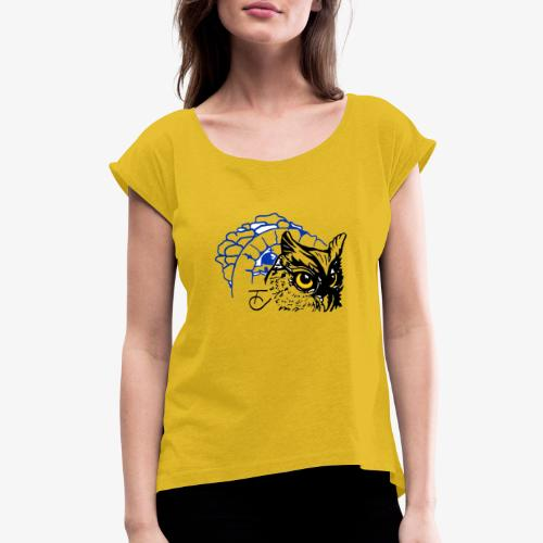 signs - Women's Roll Cuff T-Shirt