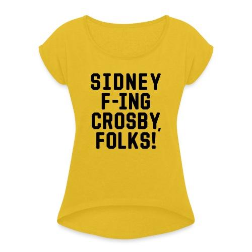 Folks! - Women's Roll Cuff T-Shirt