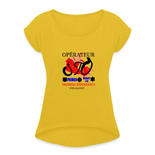 Operateur STO plus size - Women's Roll Cuff T-Shirt