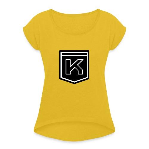KODAK LOGO - Women's Roll Cuff T-Shirt
