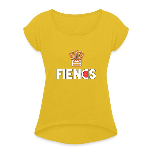 Fiends Design - Women's Roll Cuff T-Shirt