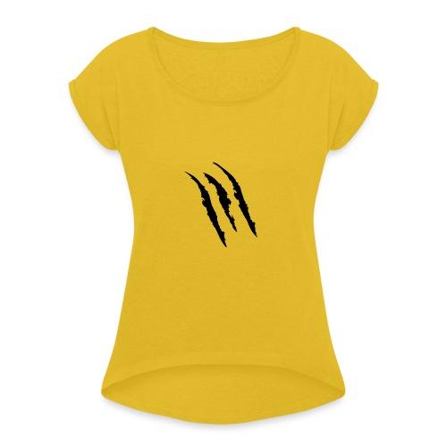 3 claw marks Muscle shirt - Women's Roll Cuff T-Shirt