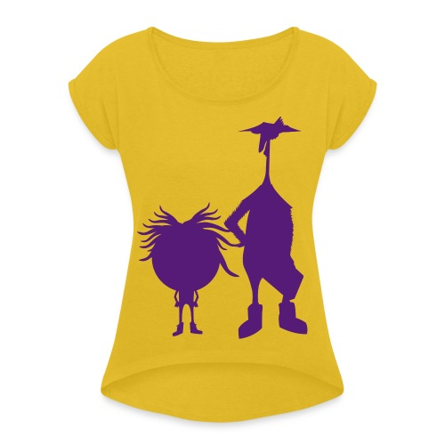 Official The Chicken and The Egg Design - Women's Roll Cuff T-Shirt