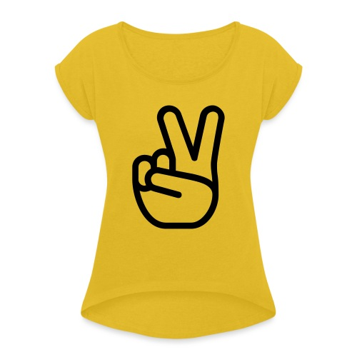 HASTY VICTORY - Women's Roll Cuff T-Shirt