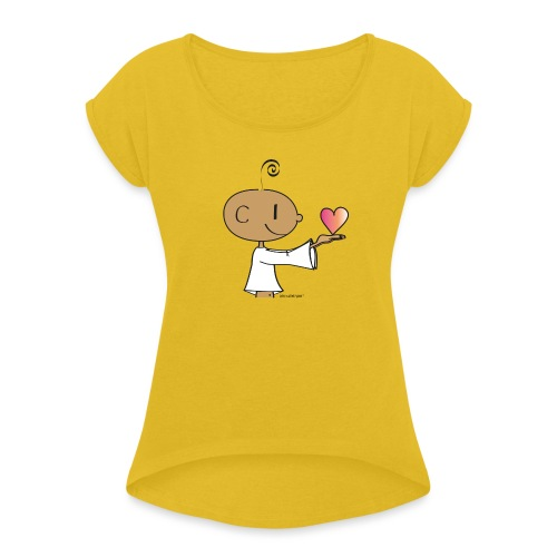 The little Yogi - Women's Roll Cuff T-Shirt