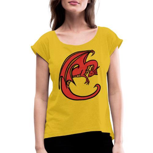 Red Dragon - Women's Roll Cuff T-Shirt