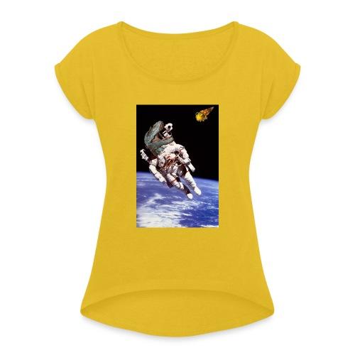 how dinos died - Women's Roll Cuff T-Shirt