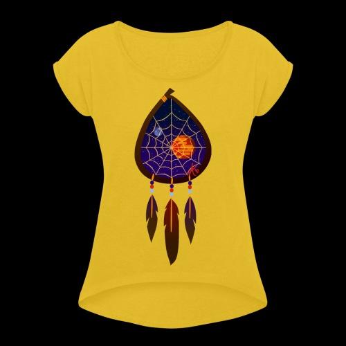 Dreamcatcher Space Inspiring 2 - Women's Roll Cuff T-Shirt