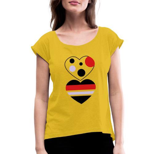 two hearts - Women's Roll Cuff T-Shirt