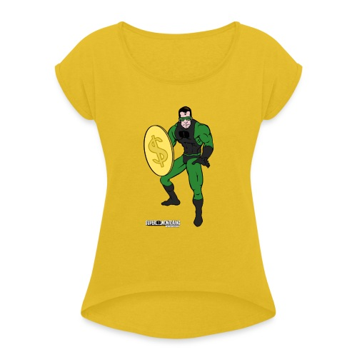 Superhero 4 - Women's Roll Cuff T-Shirt