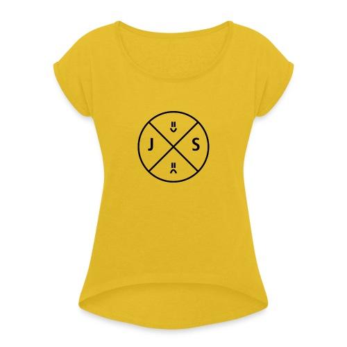 JXS Logo2 - Women's Roll Cuff T-Shirt