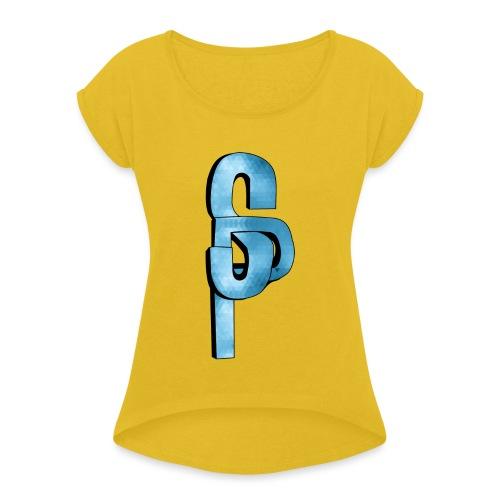 SlayerPlayer's Logo - Women's Roll Cuff T-Shirt